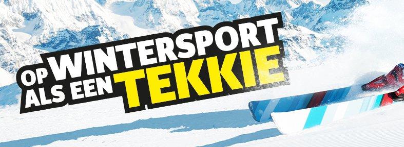 Op wintersport als een Tekkie