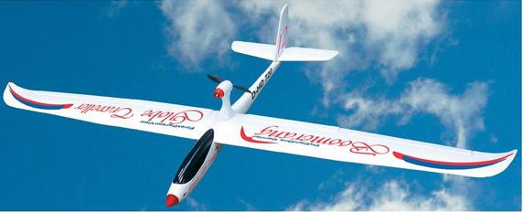 Zweefvliegtuige met brushless motor